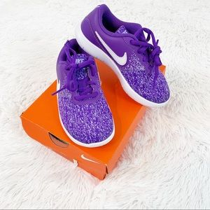 Nike Flex contact Running Sneakers purple white